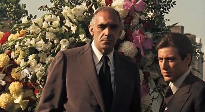 Tessio talking to Michael at the Don Barzini at Godfather funeral