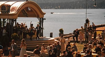 Orchestra playing for the guests at Lake Tahoe - movieworldmap.com