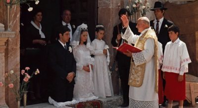 Wedding ceremony for Michael and Apollonia