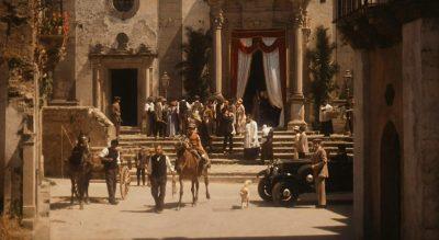 Vito Corleone at the church in Corleone