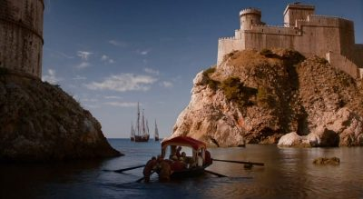 Myrcella leaving King's Landing for Dorne on a boat