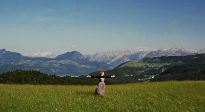 Opening Scene (The Hills are Alive) - Maria is swirling on the mountain meadow
