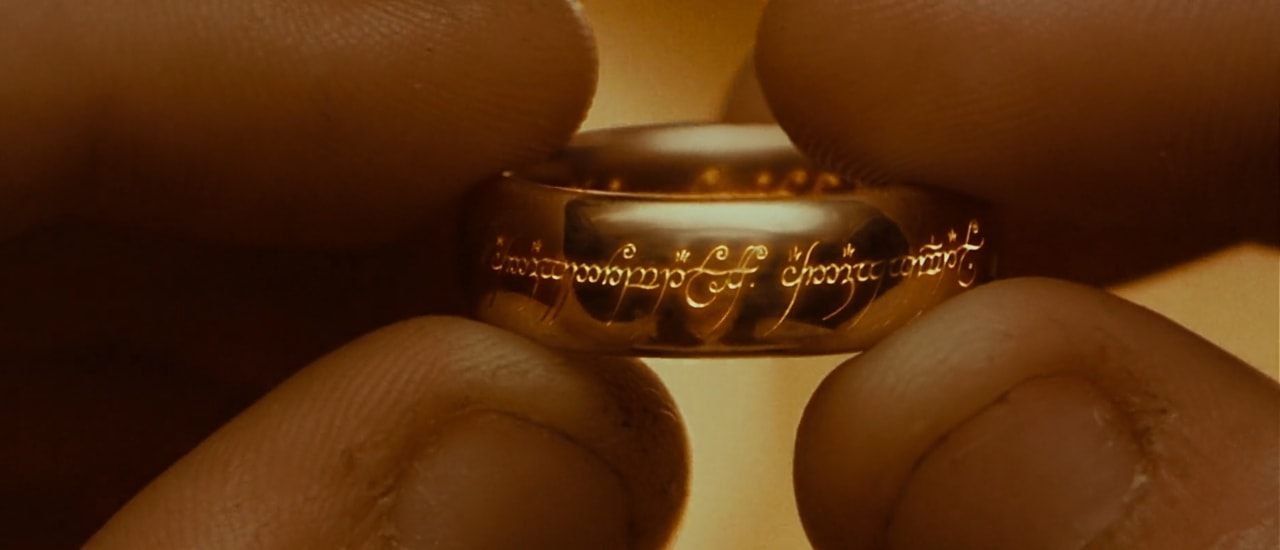 The Lord of the Rings, Frodo holding the one ring